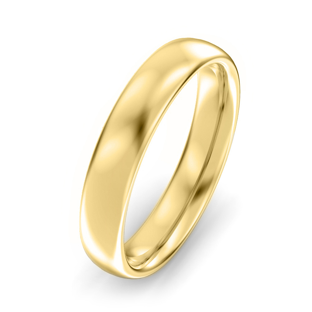 4mm Oval Court Wedding Ring