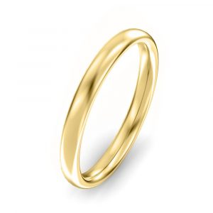 2.5mm Oval Court Wedding Ring