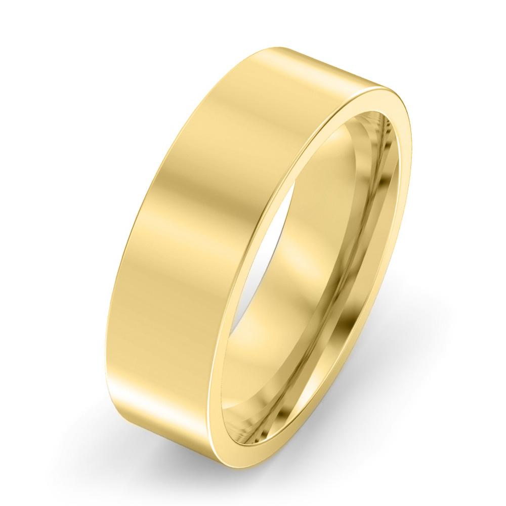 6mm Flat Court Wedding Ring