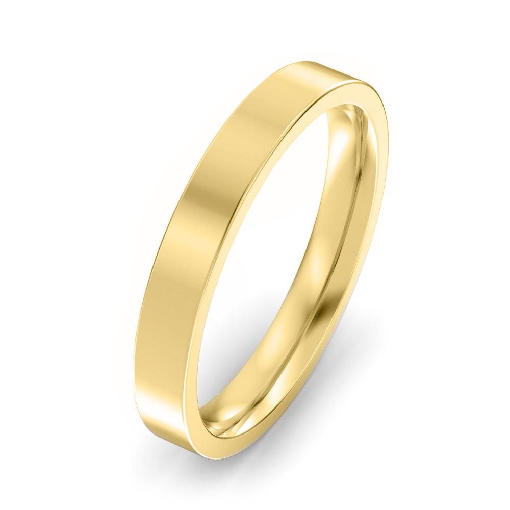 3mm Flat Court Wedding Ring
