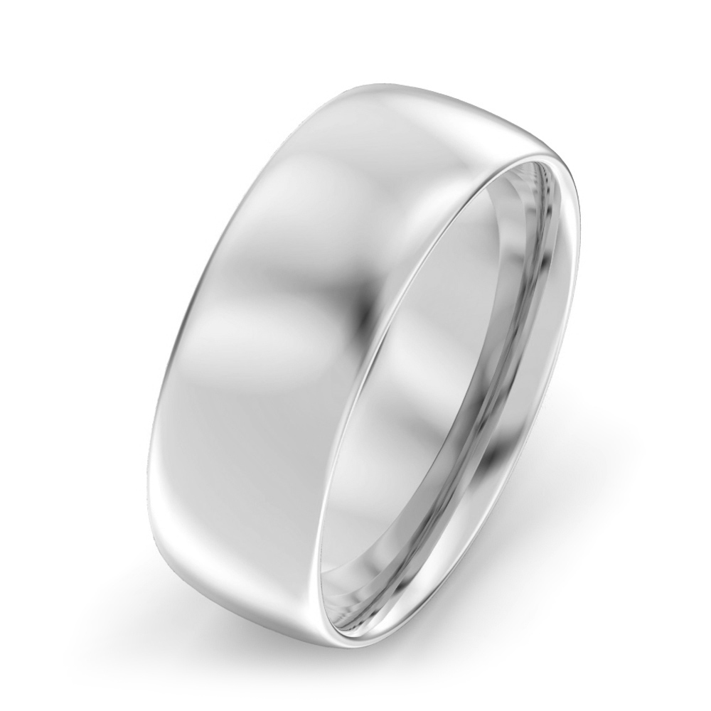 7mm Oval Court Wedding Ring