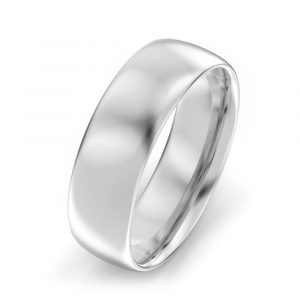 6mm Oval Court Wedding Ring