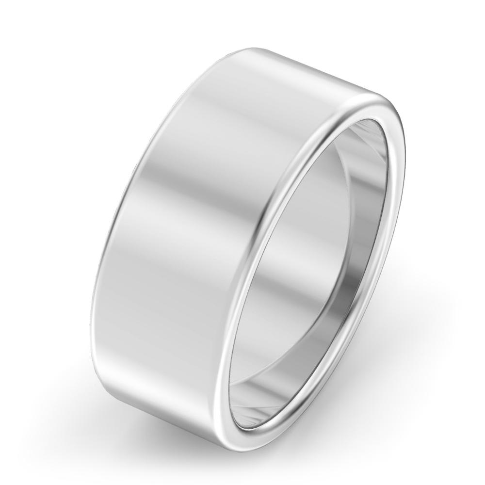 8mm modern court wedding ring