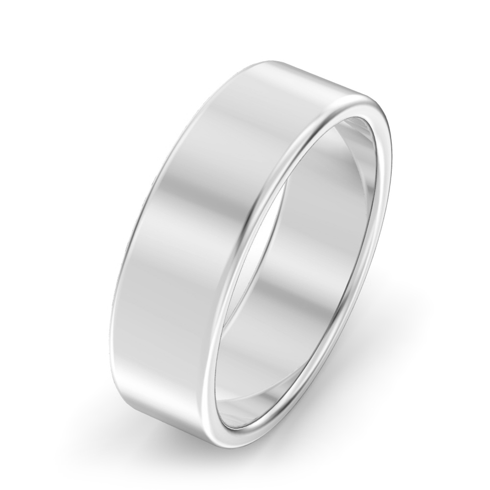 6mm Modern court Wedding Ring
