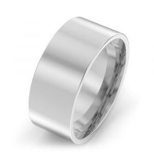 8mm Flat Court Wedding Ring