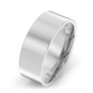 7mm Flat Court Wedding Ring