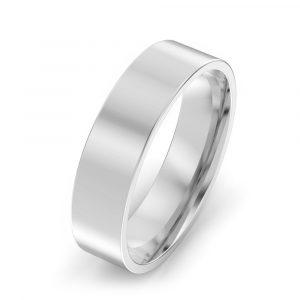 5mm Flat Court Wedding Ring