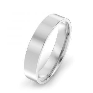 Flat Court Light Weight Wedding Ring
