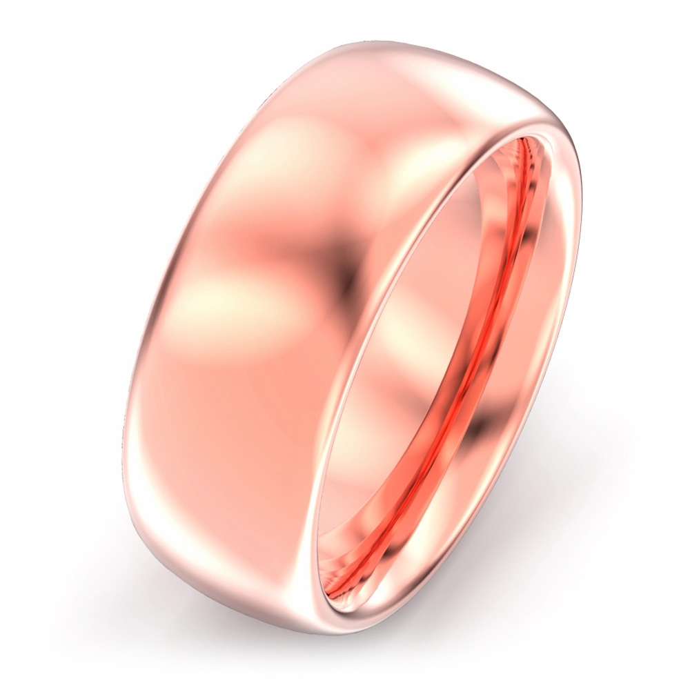 8mm Oval Court Wedding Ring