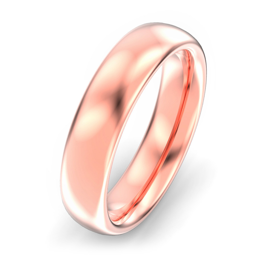 5mm Oval Court Wedding Ring