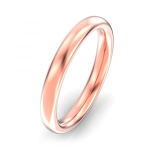 3mm Oval Court Wedding Ring
