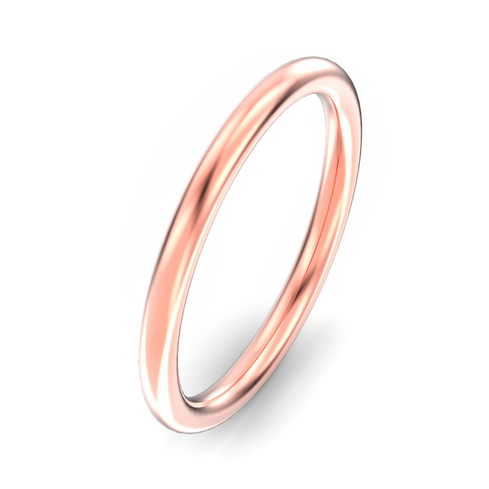 2mm Oval Court Wedding Ring