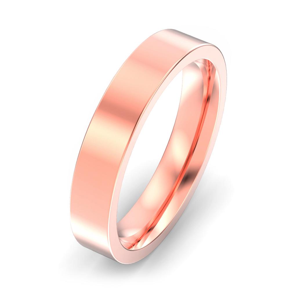 4mm Flat Court Wedding Ring