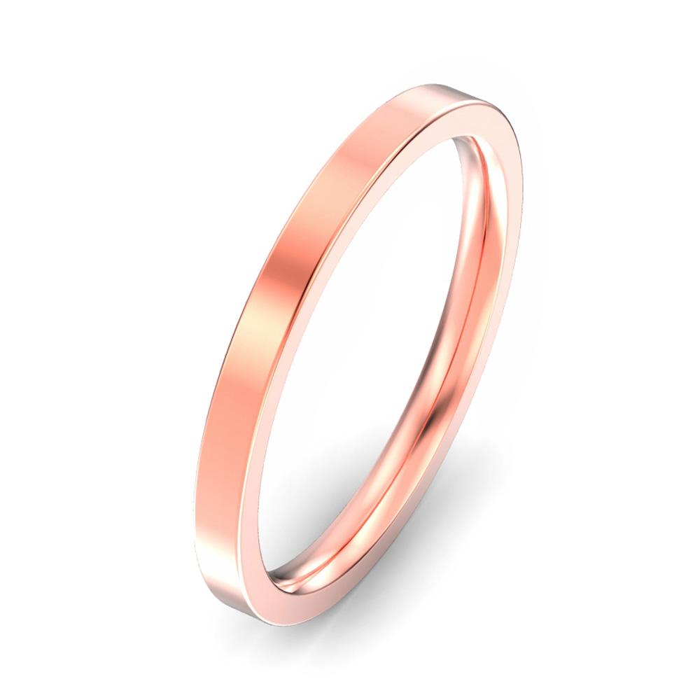 2mm Flat Court Wedding Ring