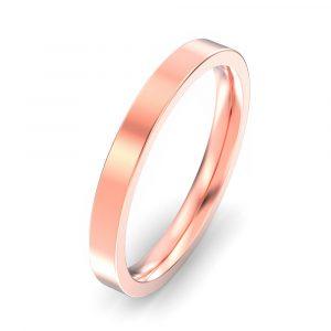 2.5mm Flat Court Wedding Ring