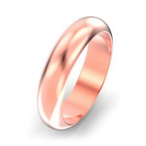 5mm D Shape Wedding Ring