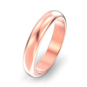 4mm D Shape Wedding Ring
