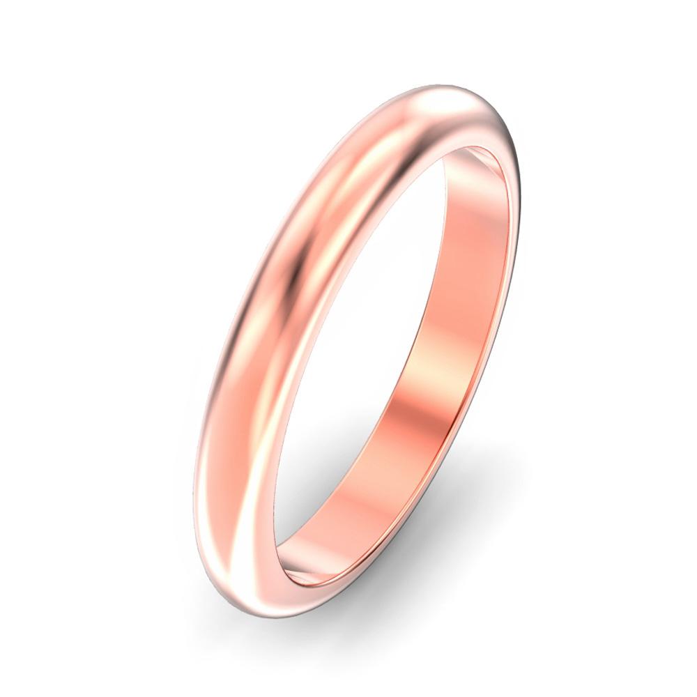 3mm D Shape Wedding Ring