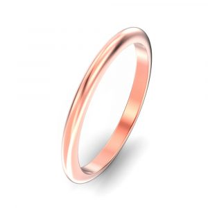 2mm D Shape Wedding Ring