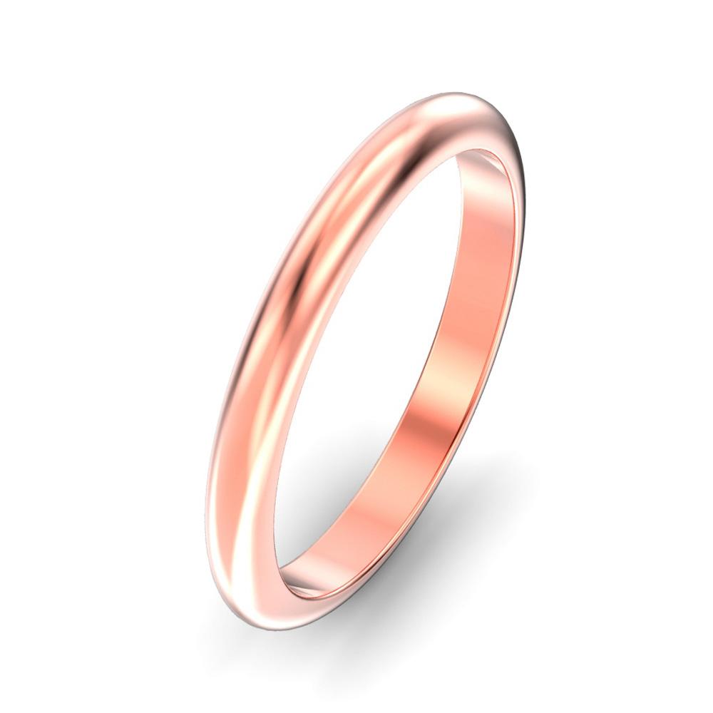 2.5mm D Shape Wedding Ring