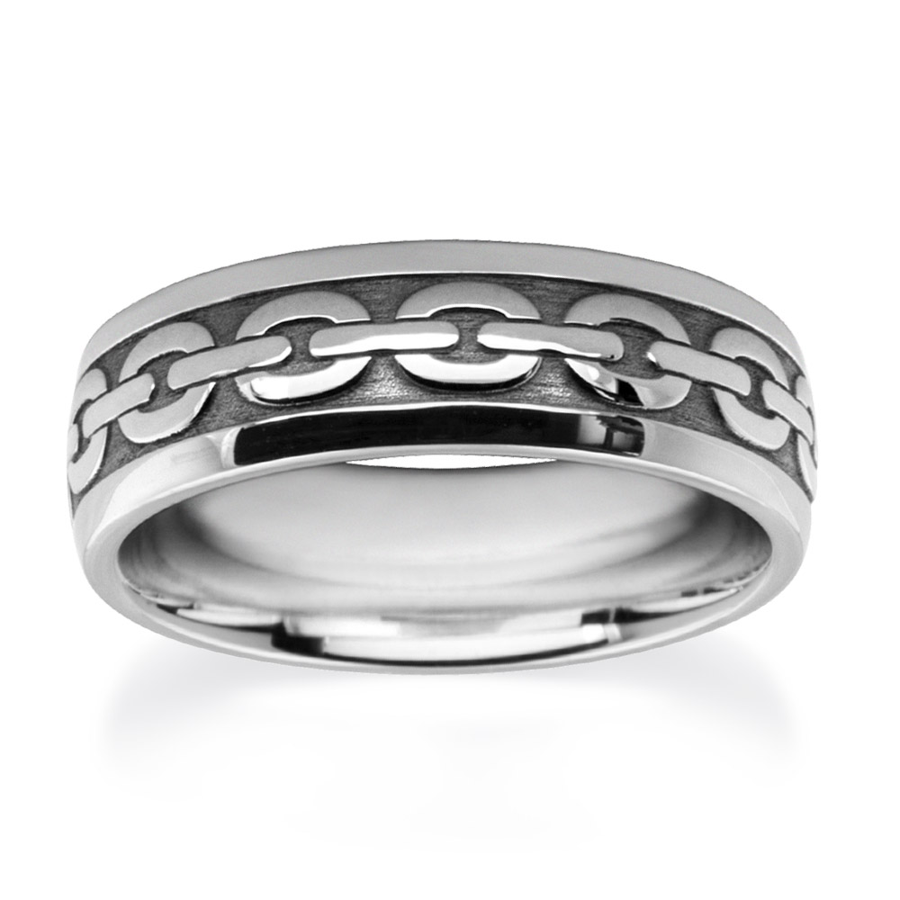 Links Wedding Ring in White Gold W7544
