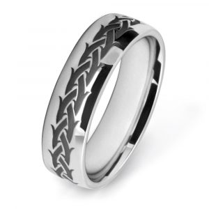 Crown Of Thorn Wedding Ring Wedding Rings W7512-WG