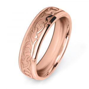 Victorian Patterned Rose gold Wedding Ring W7548