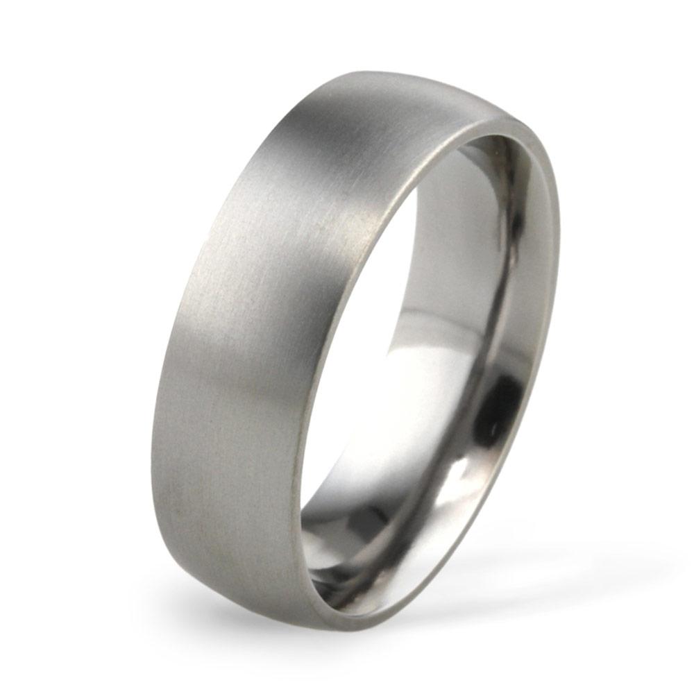 7mm Classic Court Titanium Wedding Ring