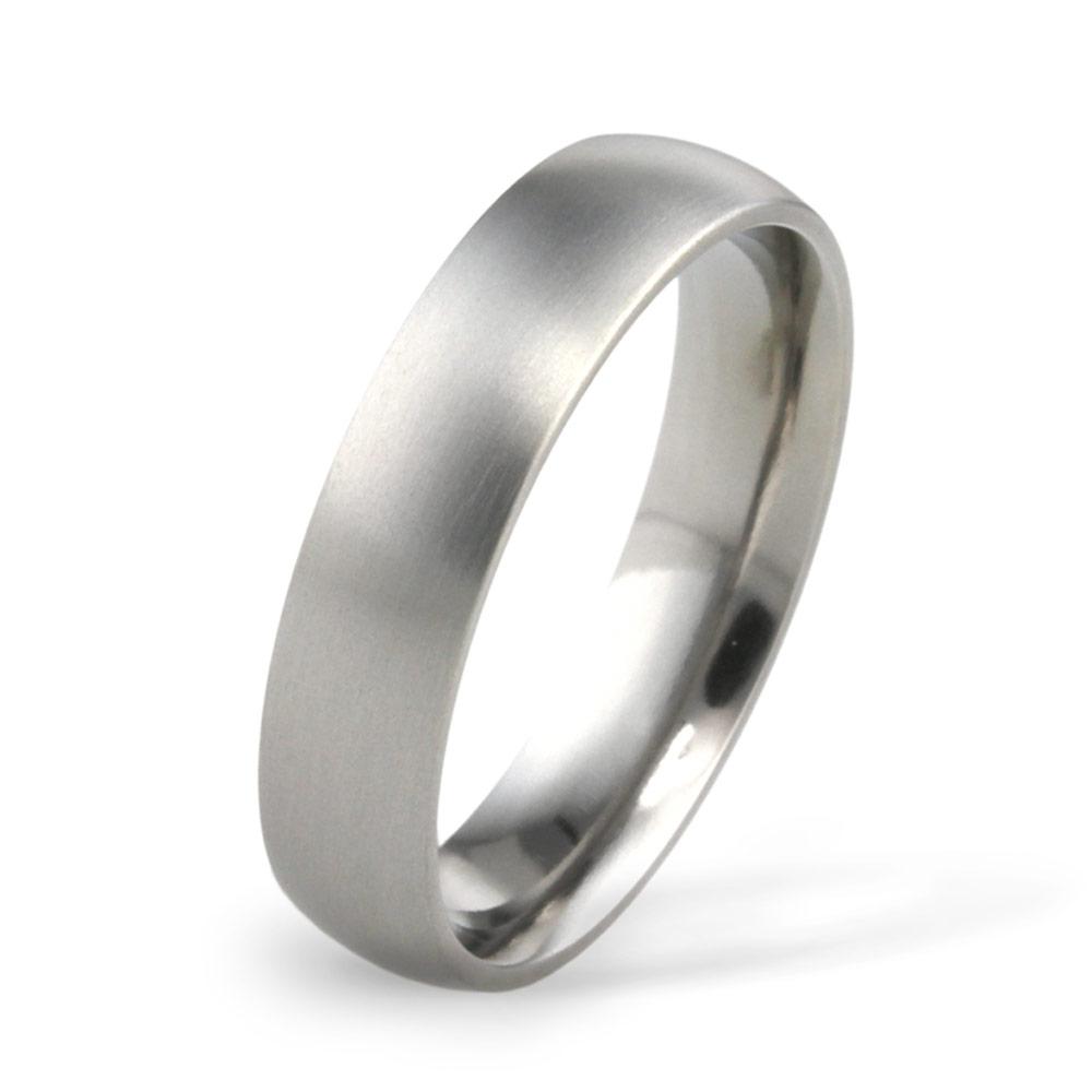 5mm Classic Court Titanium Wedding Ring