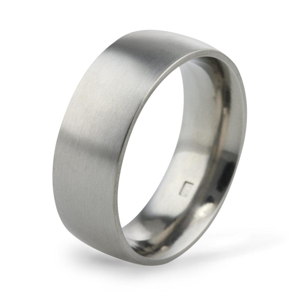 8mm Classic Court Titanium Wedding Ring