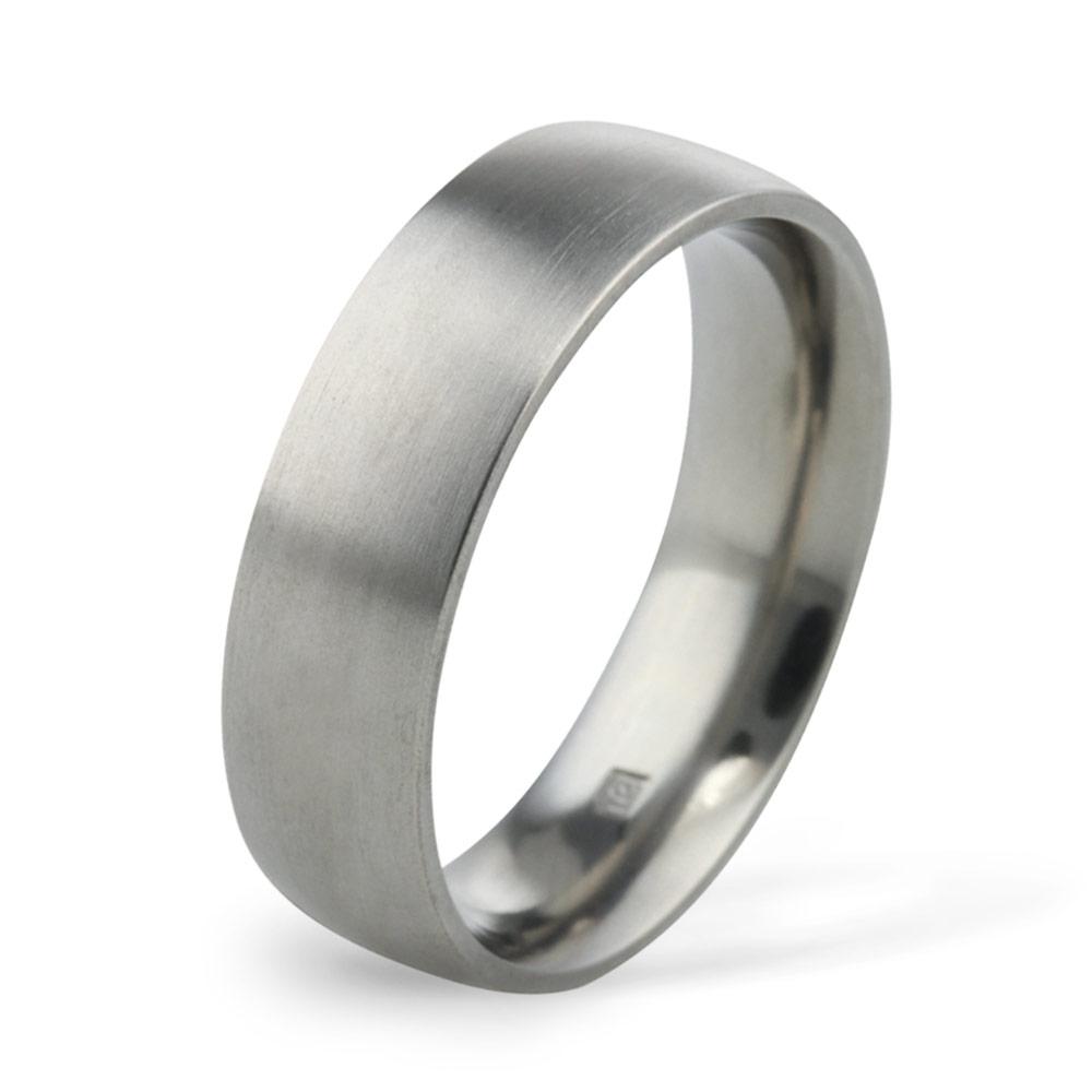 6mm Classic Court Titanium Wedding Ring