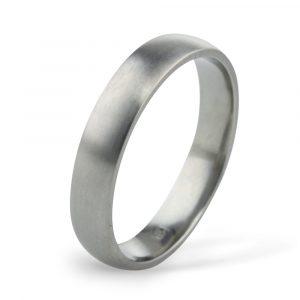 4mm Classic Court Titanium Wedding Ring