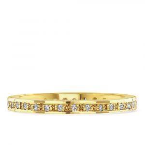 Yellow Gold Diamond Eternity Ring