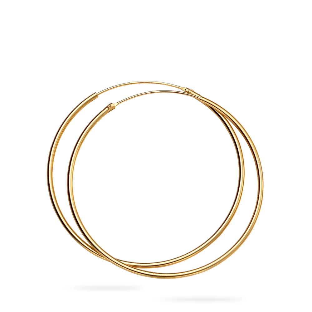 Gold Plated Plain Hoops