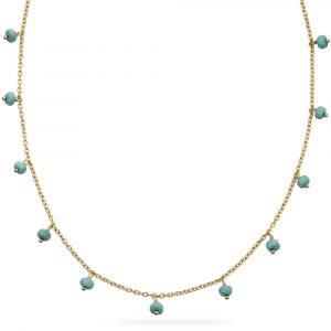 Gold Vermeil Magnesite Necklace