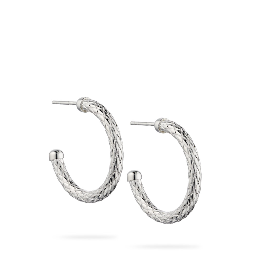 Patterned Semi Hoop Earrings