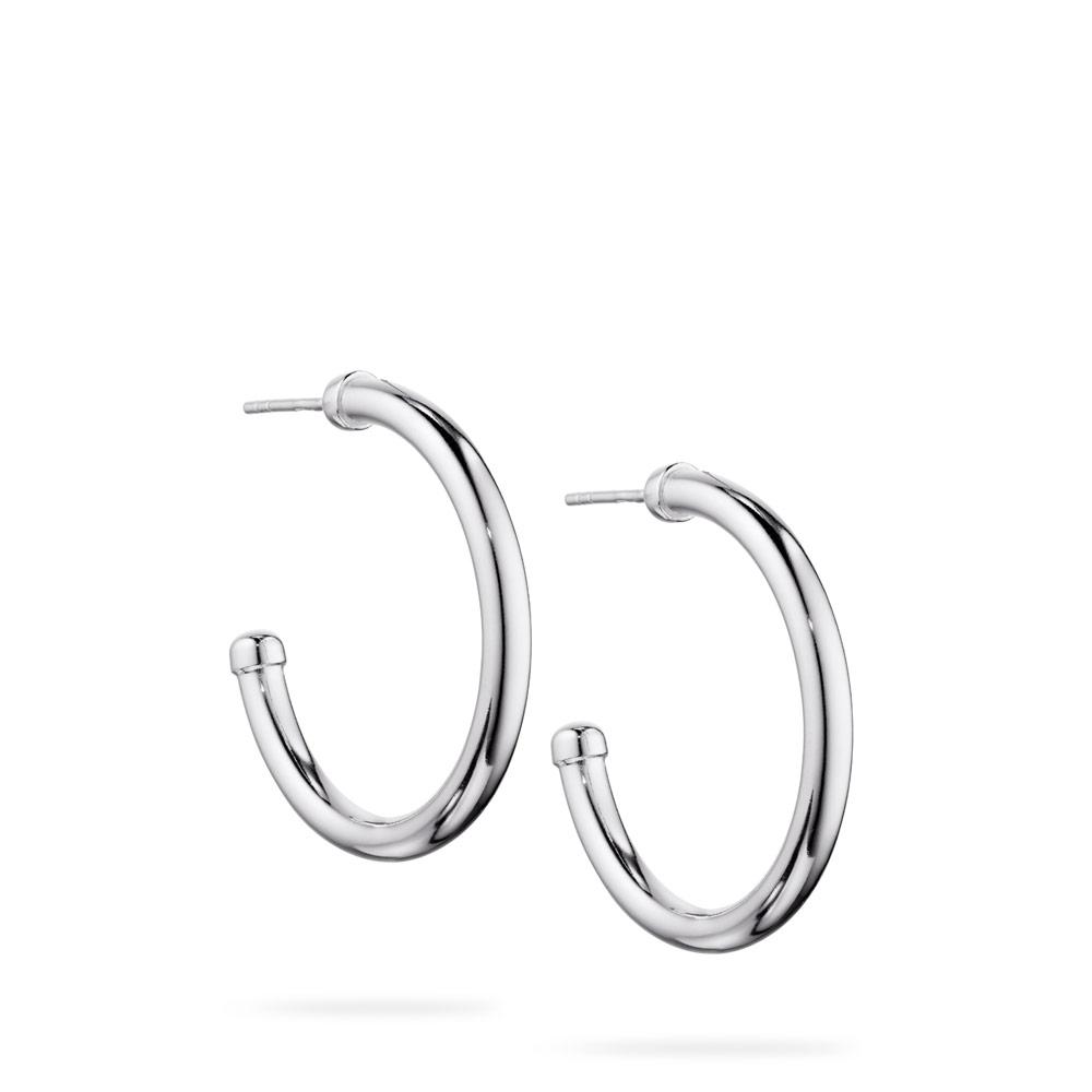 Polished Semi-Hoop Earrings