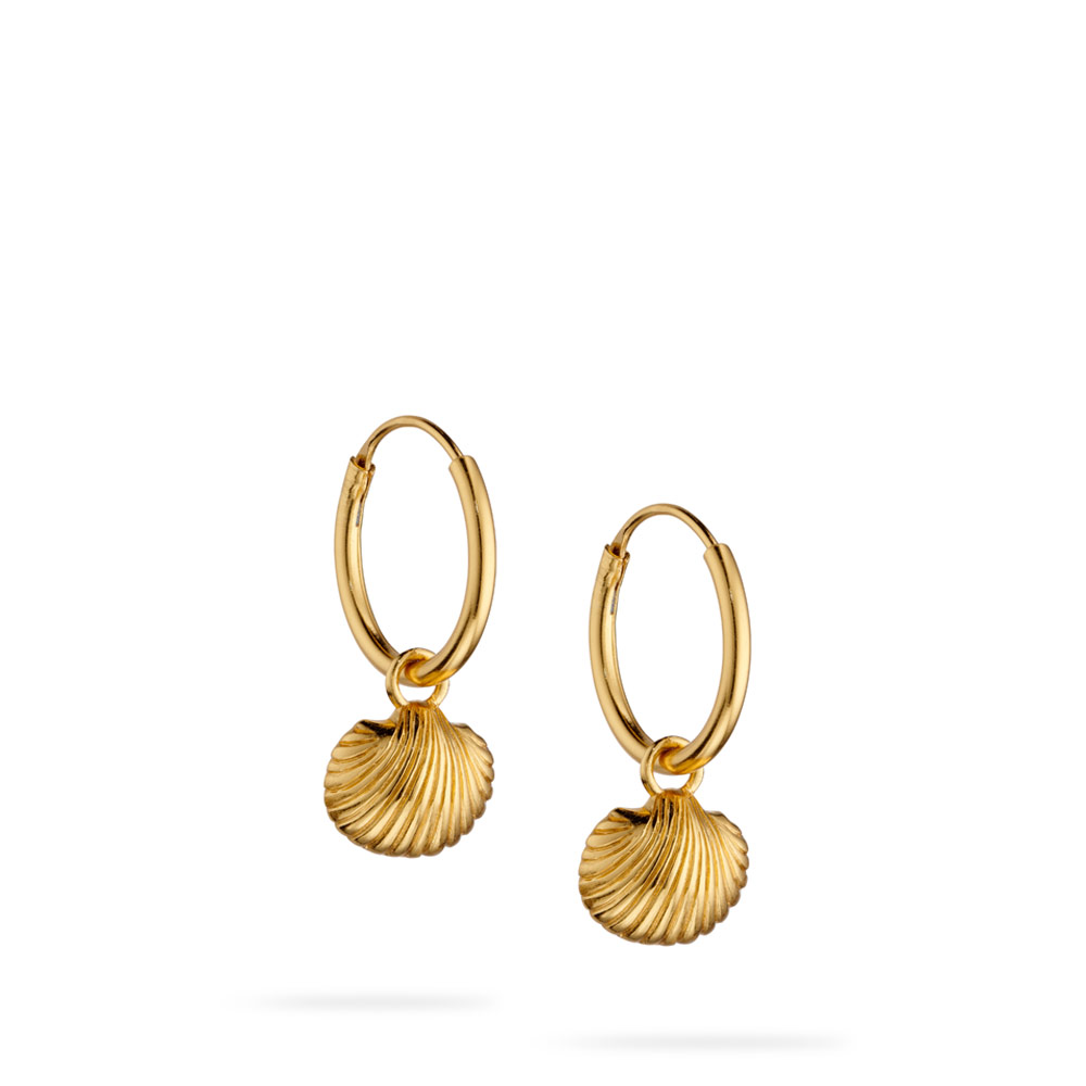 Charms Gold Vermeil Hoops