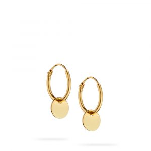 Gold Platted Disc Hoops